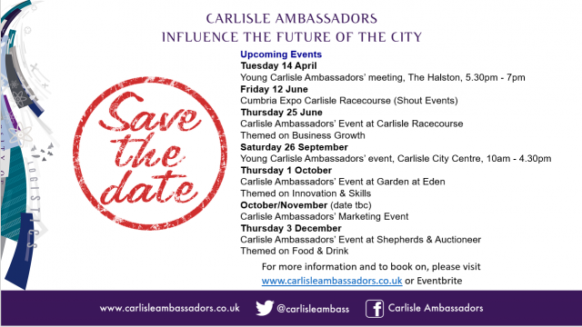 DATES FOR YOUR DIARY...2020