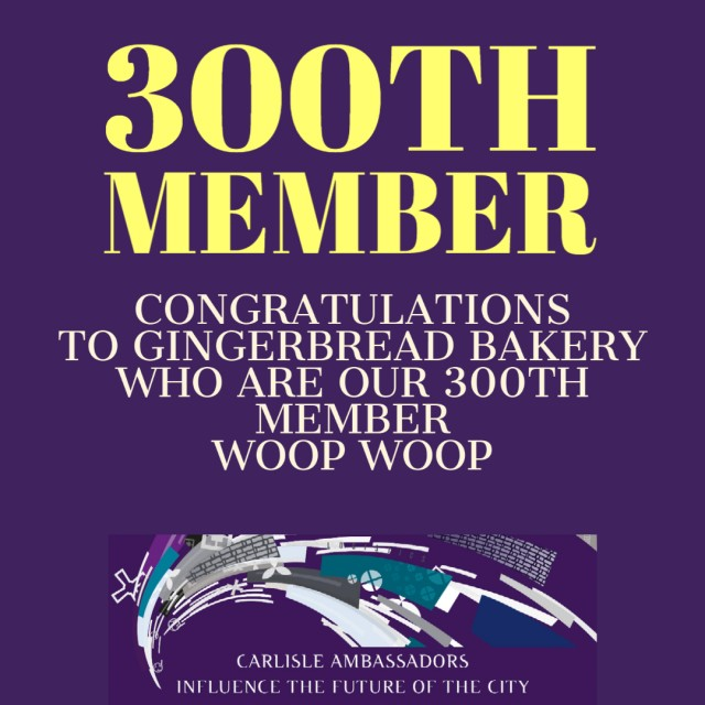 WE HAVE JUST CELEBRATED OUR 300TH MEMBER