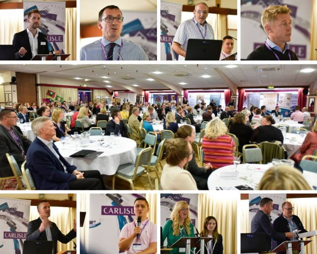 September 2018 - Theme was 'Retail, Leisure and Sport'. The speakers were Virgin Trains, Pirelli, and Cumbria Wheelchair Sports with 21 showcases