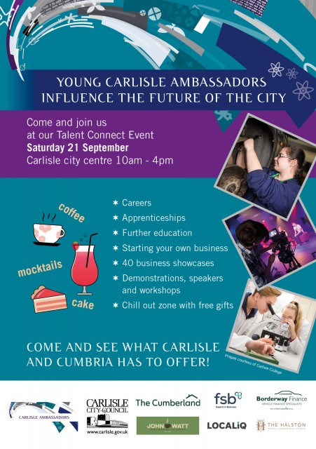 YOUNG CARLISLE AMBASSADOR'S TALENT CONNECT EVENT 21ST SEPTEMBER 2019 10AM TO 4PM CITY CENTRE, CARLISLE